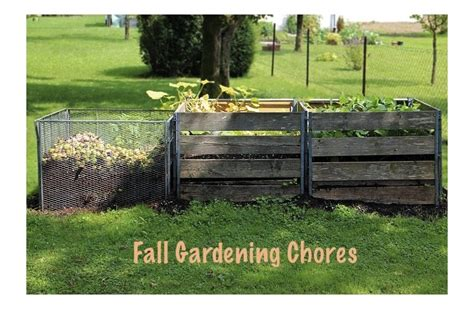 fall garden chores composting archives lone farmstead