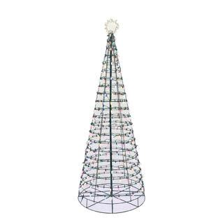 color switch plus 6 led pre lit cone christmas tree