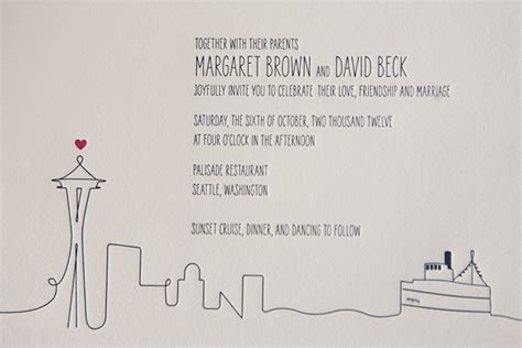 Wedding Invitations Seattle by Meg David Palisade Wedding Seattle Wa