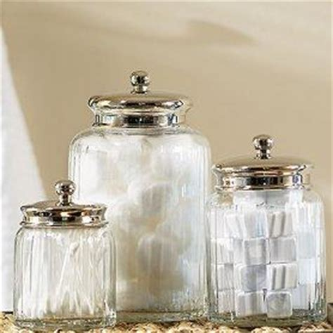 bathroom glass canisters mercury glass canisters west elm