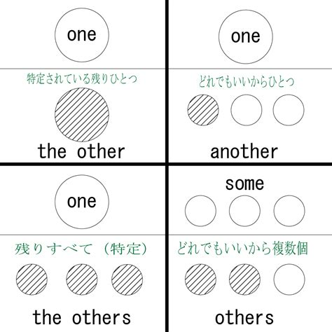 The Other 井の中の備忘録 one と the other one と another one と the