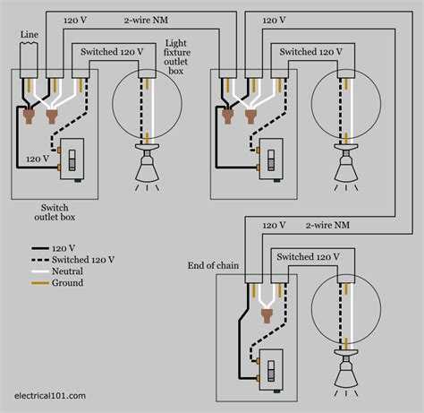 multiple light switch wiring electrical