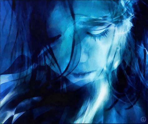 blue artist feeling a blue digital by gun legler