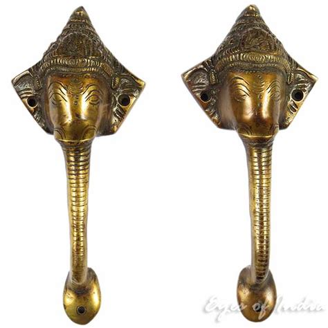 Dh Pocket Elephant brass elephant pulls cabinet doorsbrass pair brass