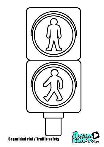 colorear semaforo de peatones pintas se 241 ales trafico