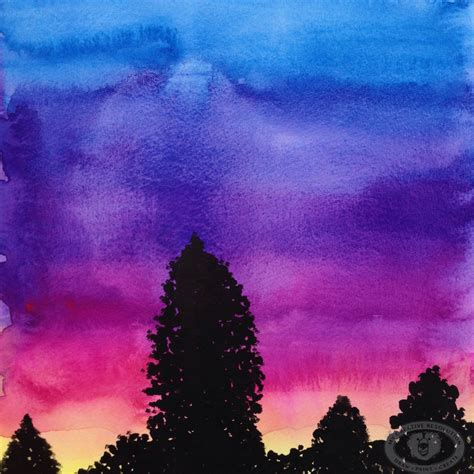 water color sunset watercolor paintings of sunsets www imgkid the