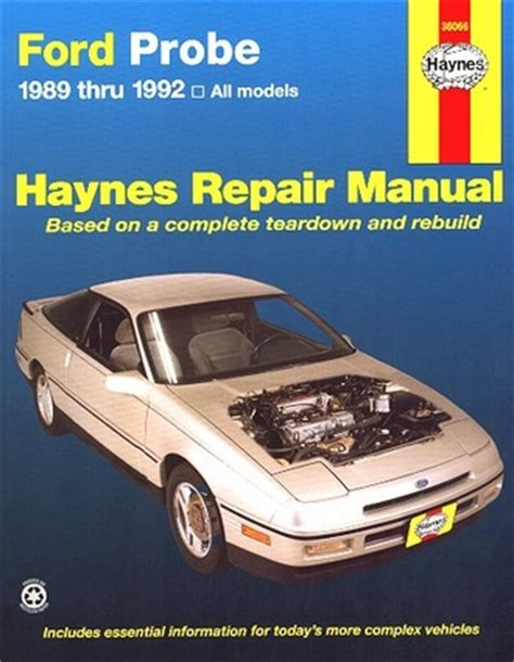 best auto repair manual 1997 ford probe electronic toll collection ford probe automotive repair manual 1989 thru 1992 all autos post