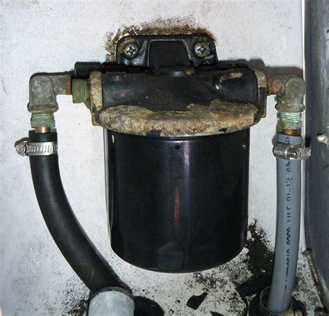 boat fuel water separator installation replacement fuel water separator filter moderated