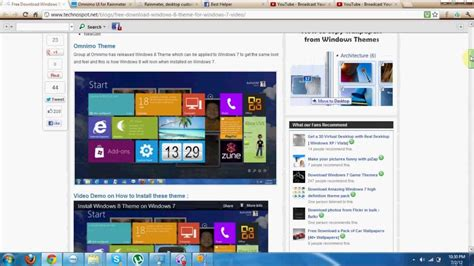 best themes for windows 7 youtube windows 8 theme on windows 7 malayalam best helper youtube