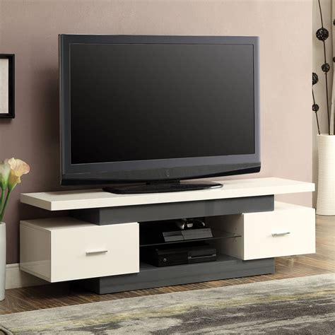 vicente white gray tv stand