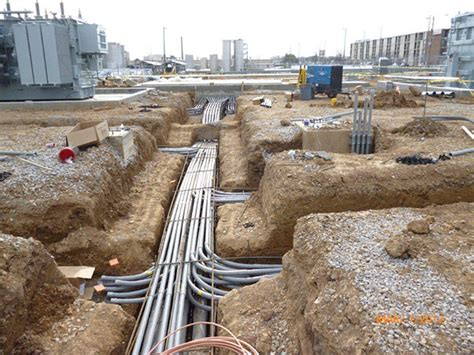 underground pvc pipe conduit power cables