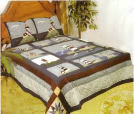King Size Bedding In Inches American Hometex 4807 K Light House Quilt King Size 108