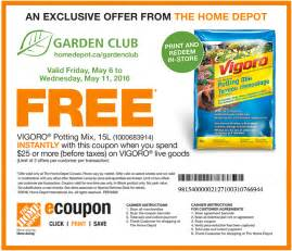 home depot cupons the home depot garden club coupon canadian freebies