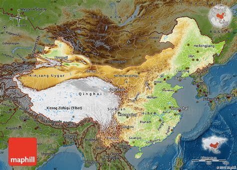 physical map of china physical map of china darken