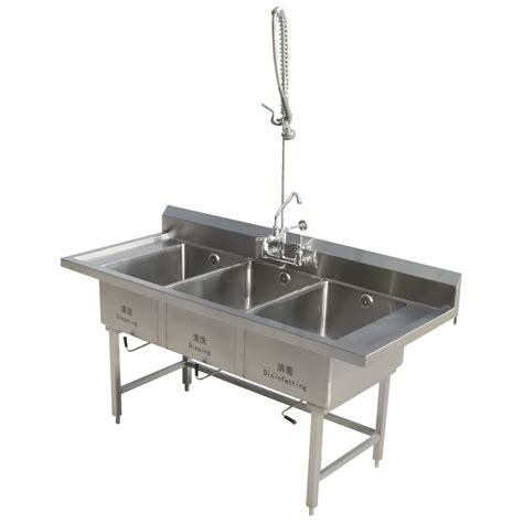 China Stainless Steel Triple Biwls Kitchen Sink For Restaurant Kitchen Sinks Stainless Steel