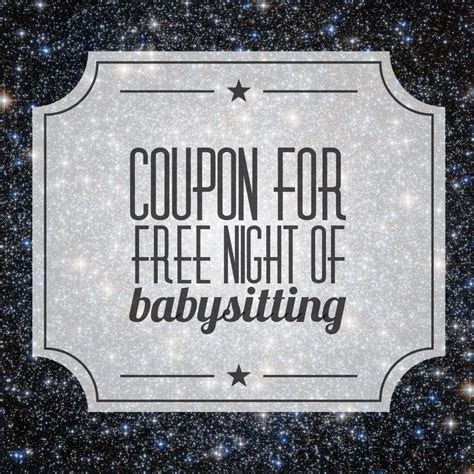 babysitting coupon template free printable coupons for babysitting the gift of