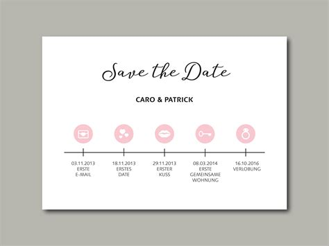 Hochzeitseinladung Zeitstrahl by Save The Date Karte Timeline Inliebe Papeterie