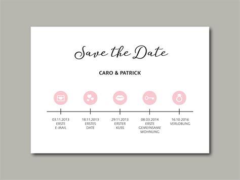 Hochzeitseinladung Timeline by Save The Date Karte Timeline Inliebe Papeterie