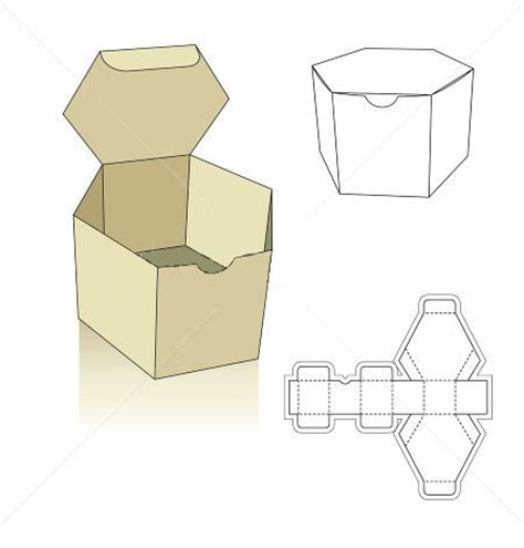 packaging box template polygon box template hledat googlem boxes ideas