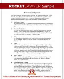 sample movie production agreement