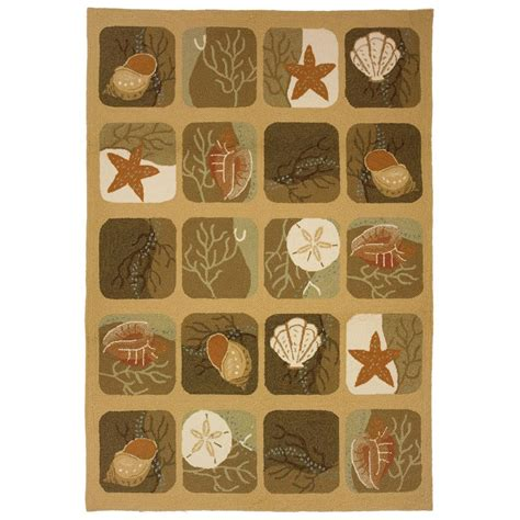 3x5 outdoor rug homefires shell tile 3x5 outdoor rug 235537 rugs at