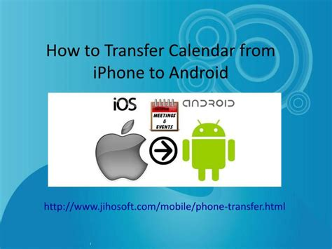 how to send photos from android to iphone ppt how to transfer calendar from iphone to android powerpoint presentation id 7204652