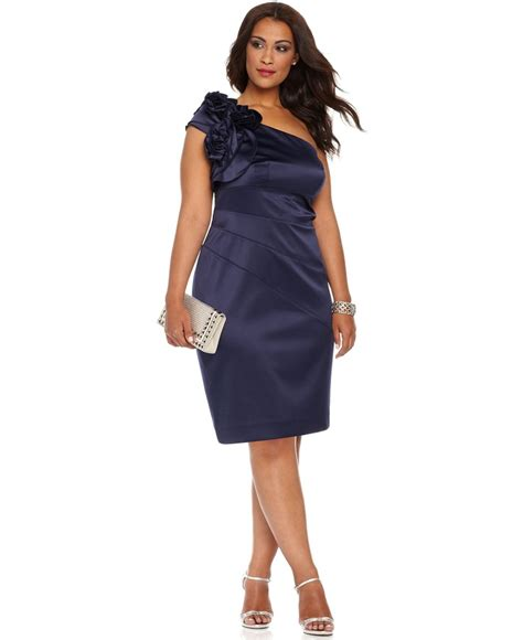 plus size dress sleeveless one shoulder seamed cocktail dress plus size prom