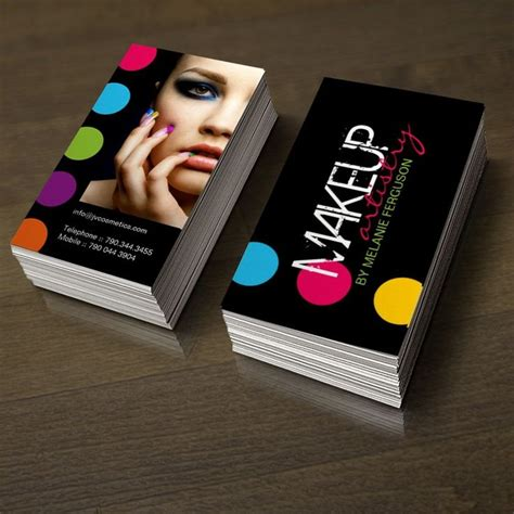 exles of makeup artist business cards bold and hip makeup artist business card design makeup