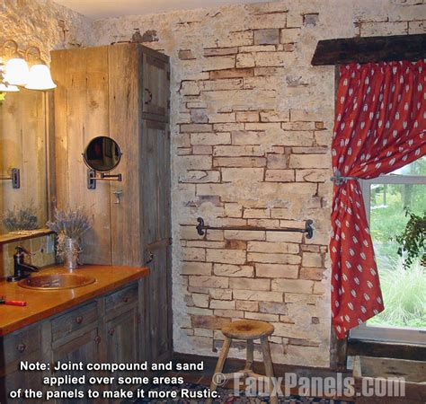 stone bathroom wall panels rustic decor ideas made easy creative faux panels