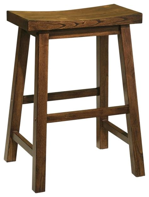 Rustic Kitchen Bar Stools by Rustic Lodge Distressed Honey Brown Wood 24 Quot High