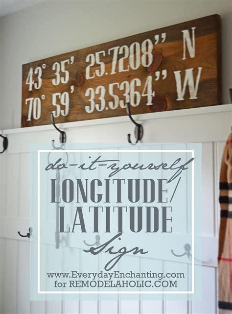Easy Dinner Party Main Dishes - remodelaholic diy reclaimed wood longitude latitude sign