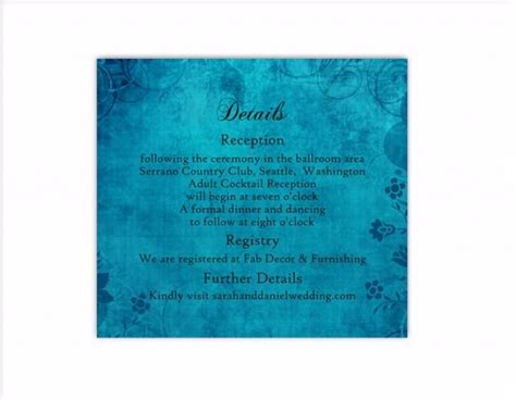 Florist Enclosure Card Template by Thedesignsenchanted Weddbook