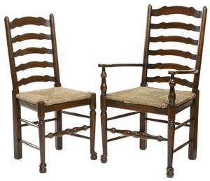 Antique ladder back dining chairs