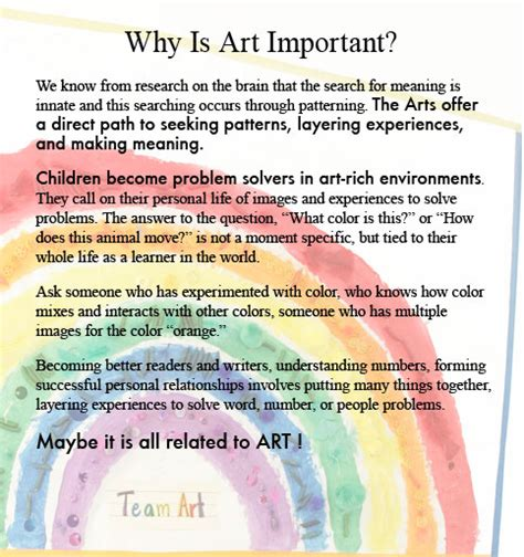 arts education why is it important arts to grow why art is important to early childhood development