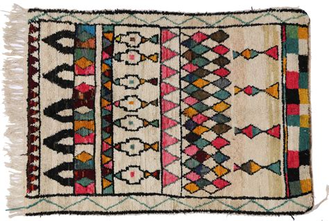 colorful moroccan rug mid century mordern berber moroccan rug with colorful bohemian style for sale at 1stdibs