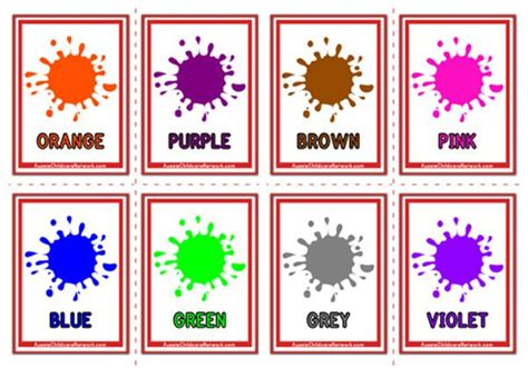 color flashcards colours flashcards paint drops aussie childcare network