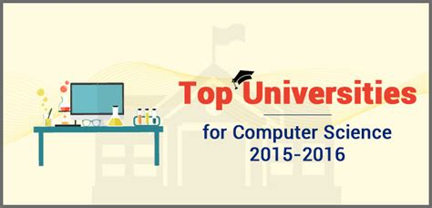 Mba In Computer Science In Canada by Top Universities For Computer Science 2015