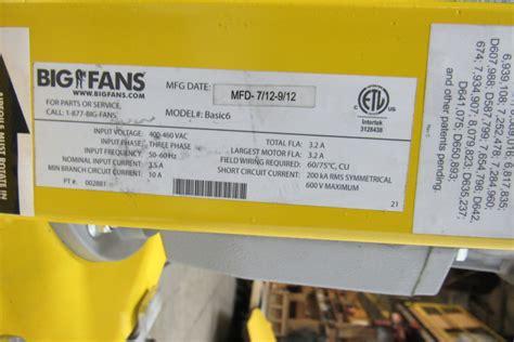 big fan basic 6 big fan basic 6 industrial warehouse retail ceiling