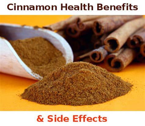 cinnamon health benefits   side effects