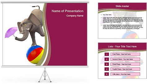 elephant powerpoint template circus elephant powerpoint template backgrounds id