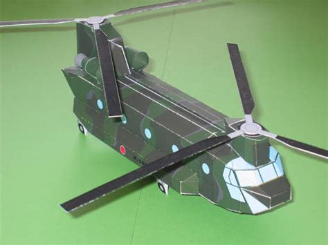 How To Make A Paper Army Helicopter - simple boeing ch 47 chinook helicopter free aircraft paper