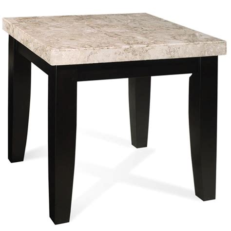 marble veneer table top steve silver monarch mc700e marble veneer top end table