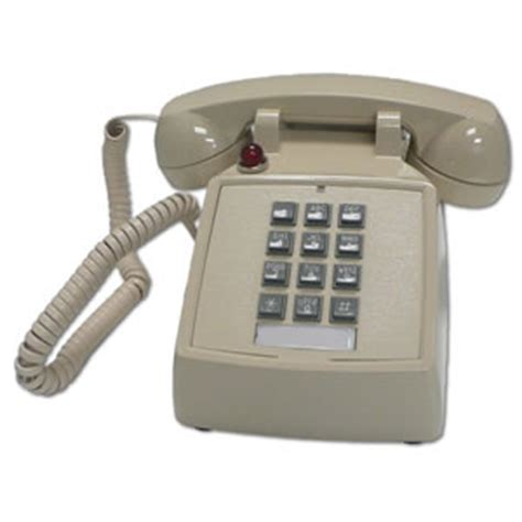 Cortelco Desk Phone by Cortelco Desk Phone Message Waiting Light Analog Volume Co