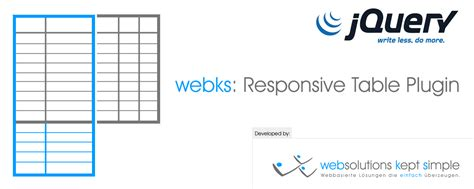 jquery plugin webks responsive tables logo