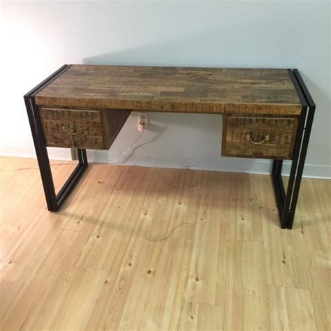 wood and iron desk iron and wood desk nadeau minneapolis