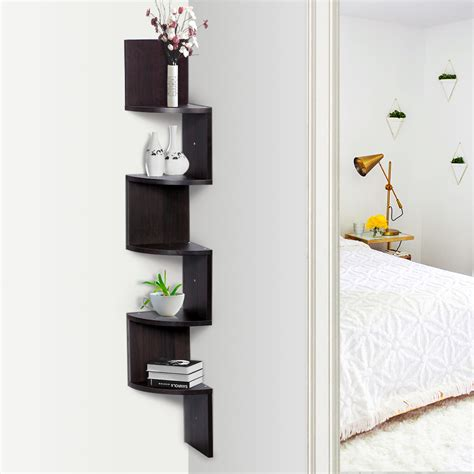 home corner wall mount shelf hanging storage shelves rack