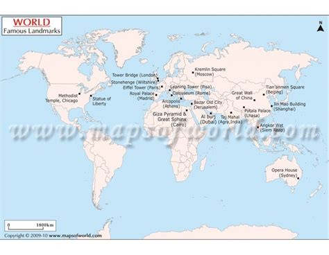 map of landmarks 2 buy world landmarks map