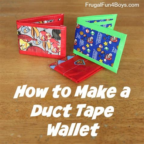 printable directions for a duct tape wallet how to make a duct tape wallet