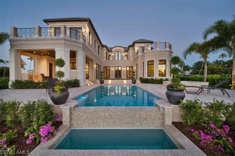 florida home styles 9 95 million newly built waterfront mansion in naples fl