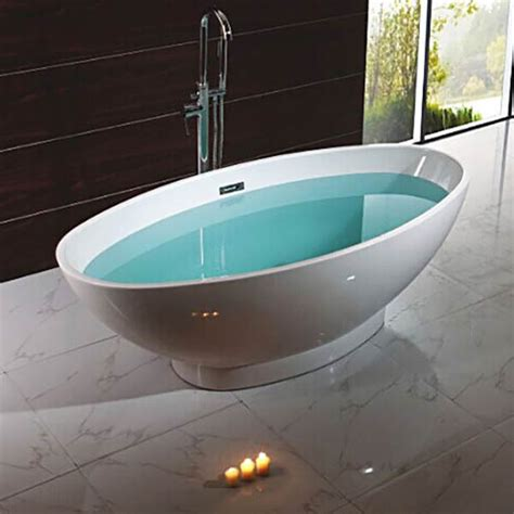 double ended bathtub 1680 x 800mm oval double ended freestanding bath